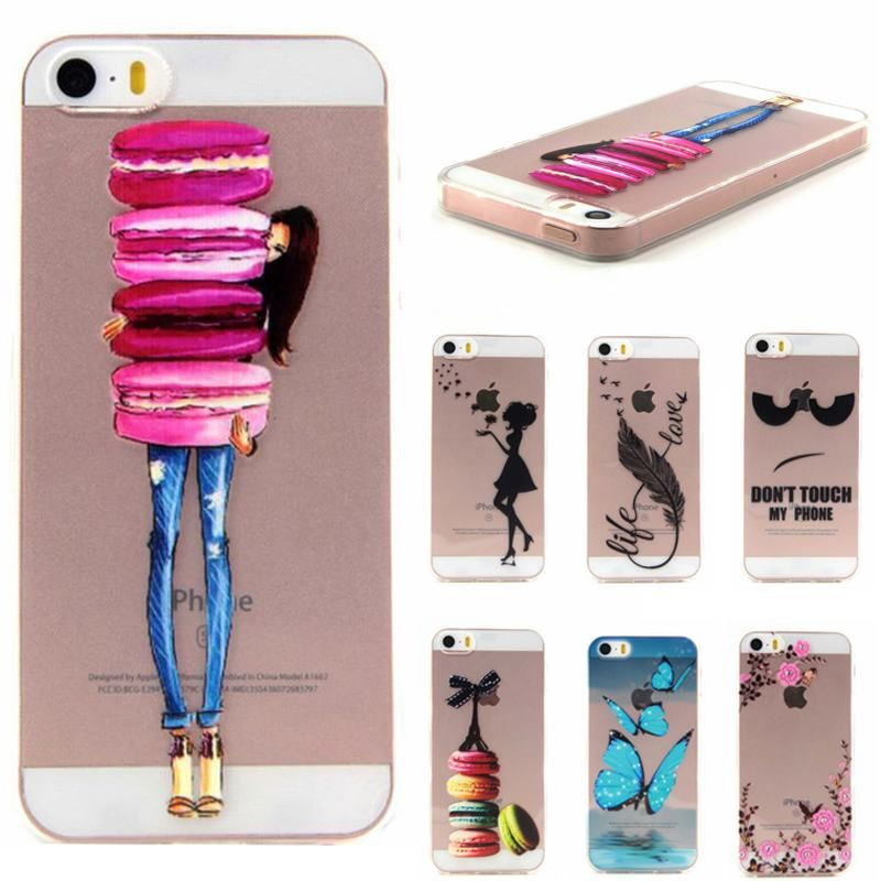 3D Relief Cover For Coque iPhone 5s Case Transparent Silicone TPU ...