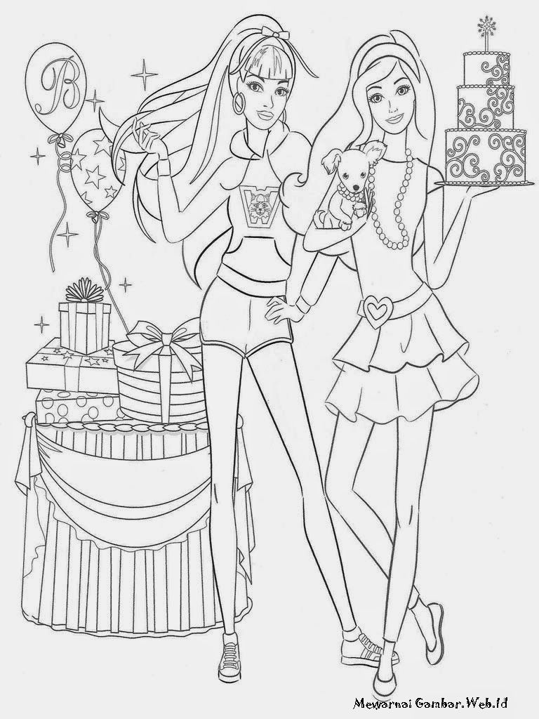 Mewarnai Barbie Fashion Fairytale Mewarnai Gambar