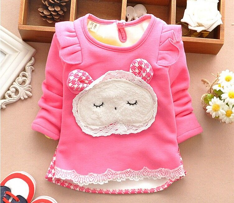 Cool On Sale New Baby Girls Sweater Thickened Cashmere O Neck Full