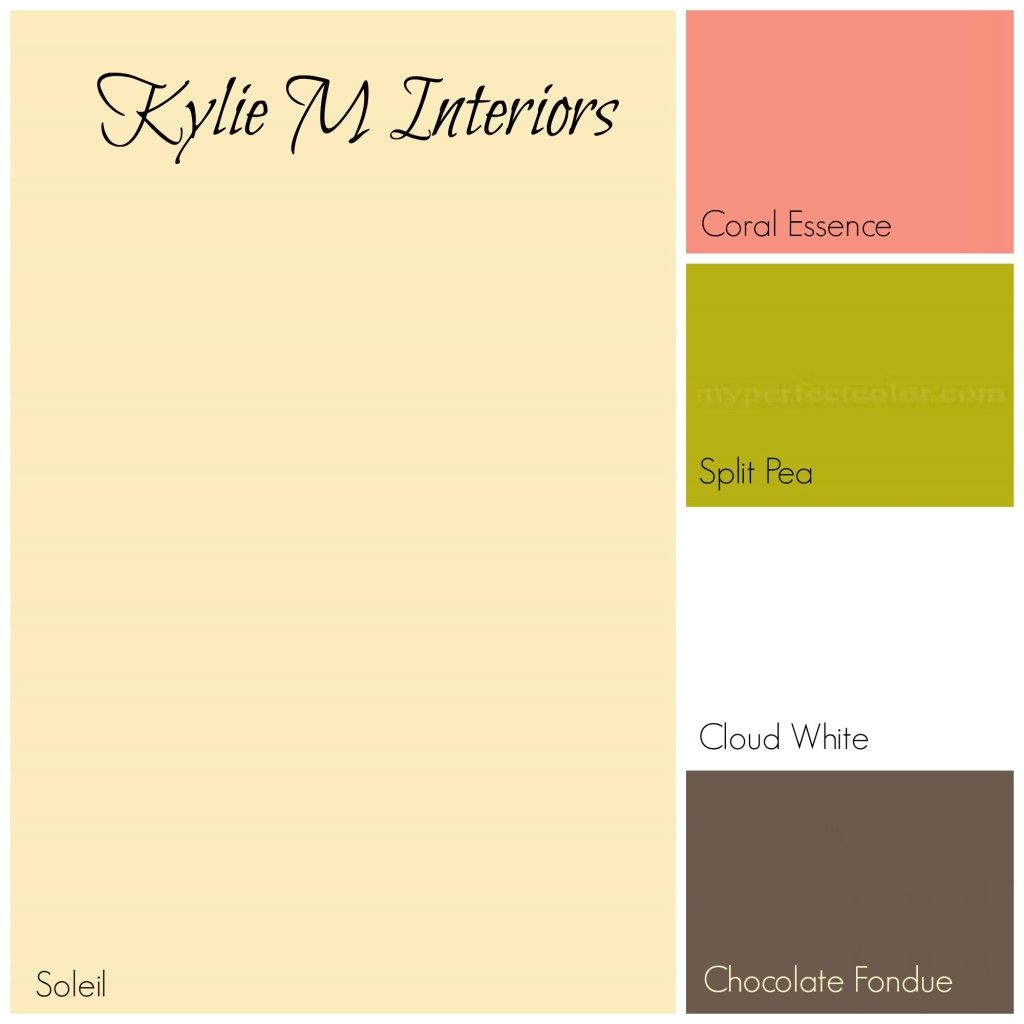 Yellow For S Or Baby Room With C Green And Brown Paint Palette Benjamin Moore Colours