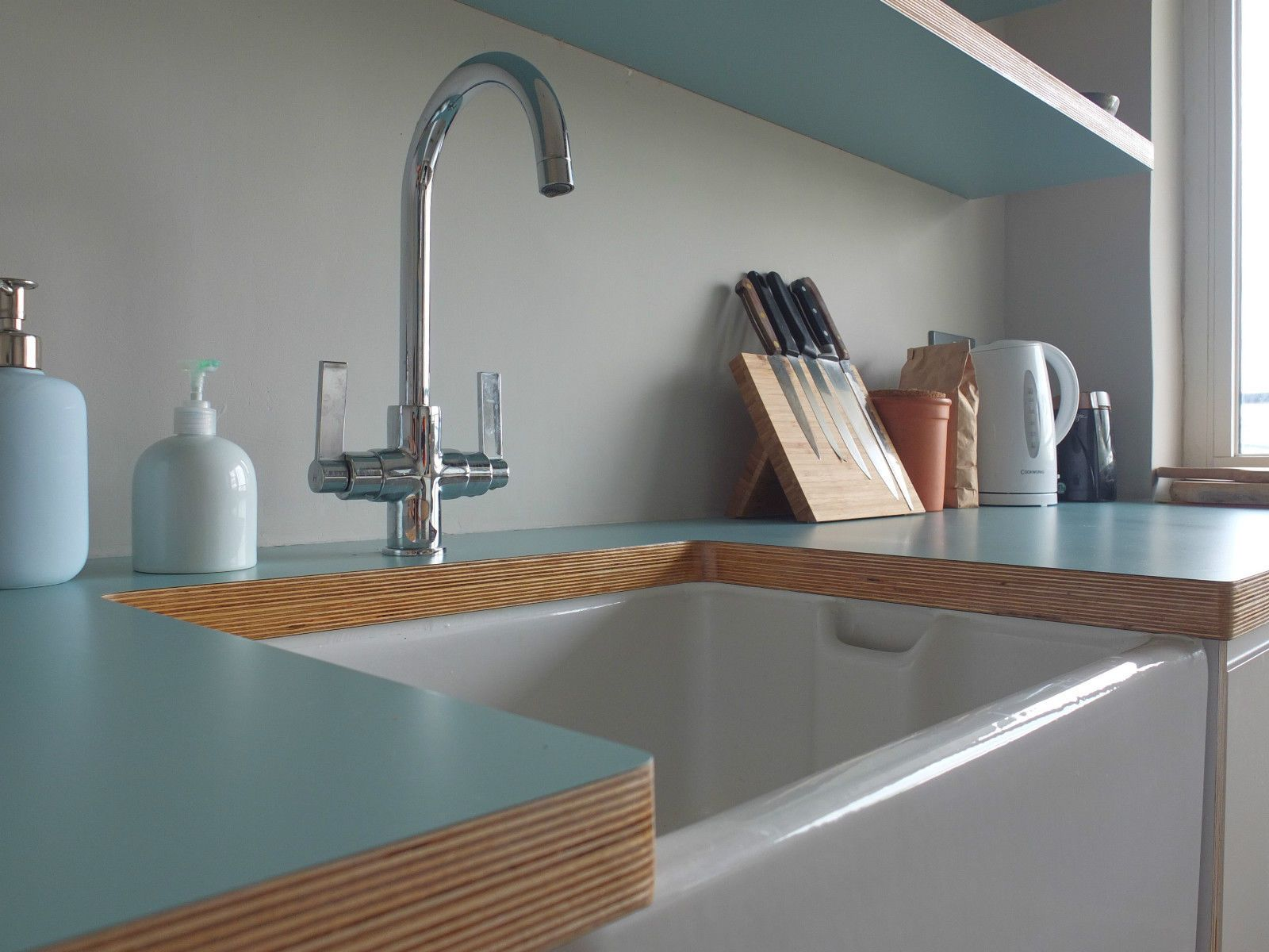 Bright Coloured Kitchen Worktops