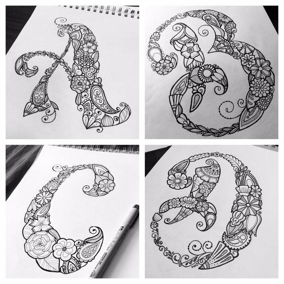 Creative Spark Coloring Book Letter By JulesBakerArtStudio