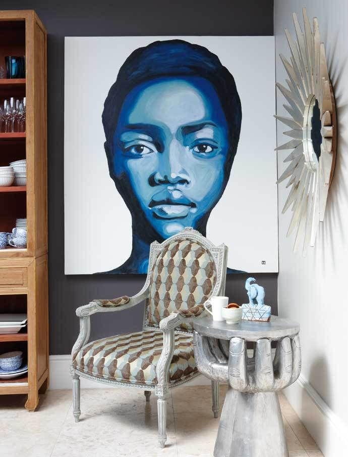 .Cape town chic,eclectic living home