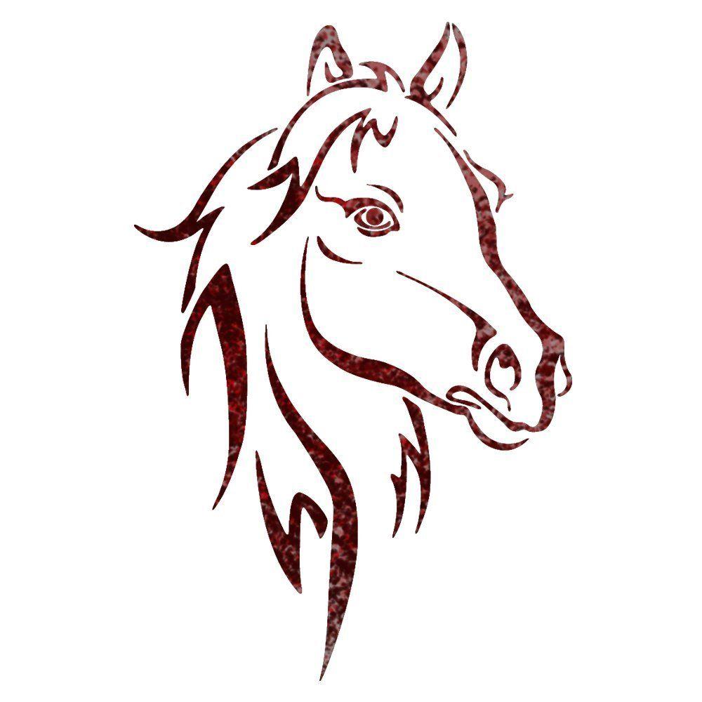 Spray Paint Stencil Ideas Part - 33: Horse Head Animal Wall Stencils For Wall Art Decor Reusable Template