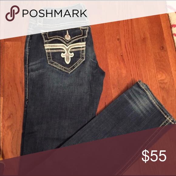 Rock revival jeans Good condition 27x33 CHEAPER ON MERC!! Rock Revival Jeans Straight Leg