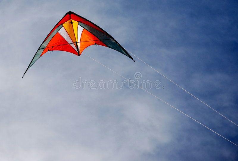 Kite Stunt Kite Flying in the Air