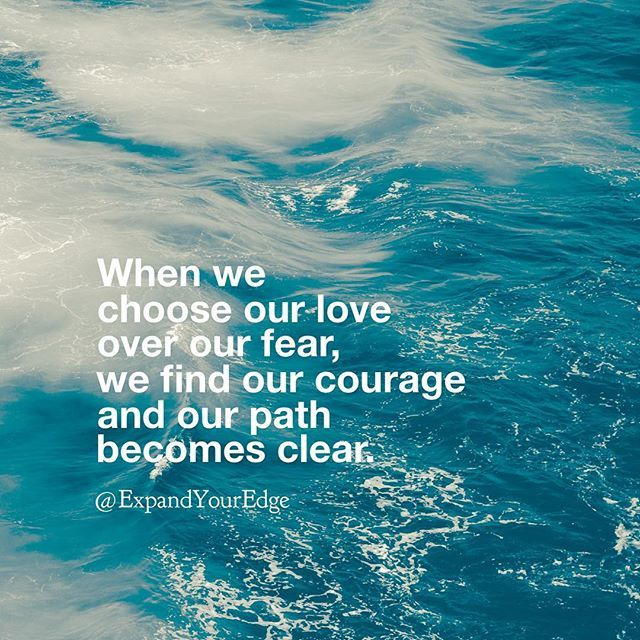 "Beautiful words by my friend @expandyouredge. Highly recommend following her for more insights on emotional fitness, achieving inner balance, and life-enriching posts like this: - ""It takes great courage to choose our love over our fear. Our fear can have a strong hold over us if we let it. It can shape our life and it can rule our world. But the only power it has over us, is the power we give it. - Our fear may be able to steal our life but it is our love that can heal it. Our love is…"