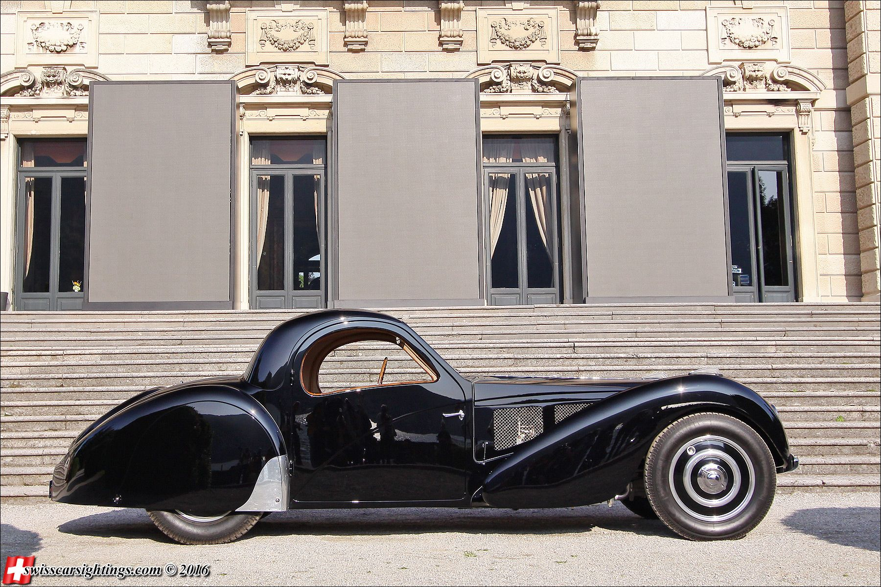 Bugatti 57SC Atalante - Don't mess with auto brokers or sloppy open transporters. Start a life long relationship with your own private exotic enclosed transporter. http://LGMSports.com or Call 1-714-620-5472 today