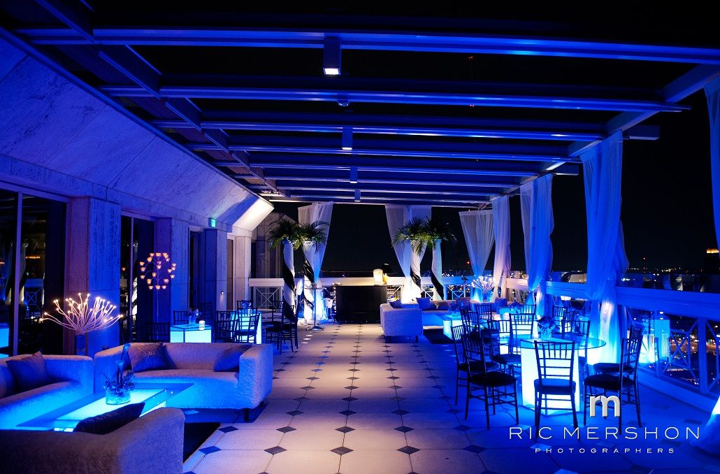 A Miami Night Themed Wedding Reception at The Peachtree Club