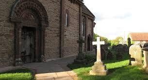 Church main door, Garway Herefordshire, England