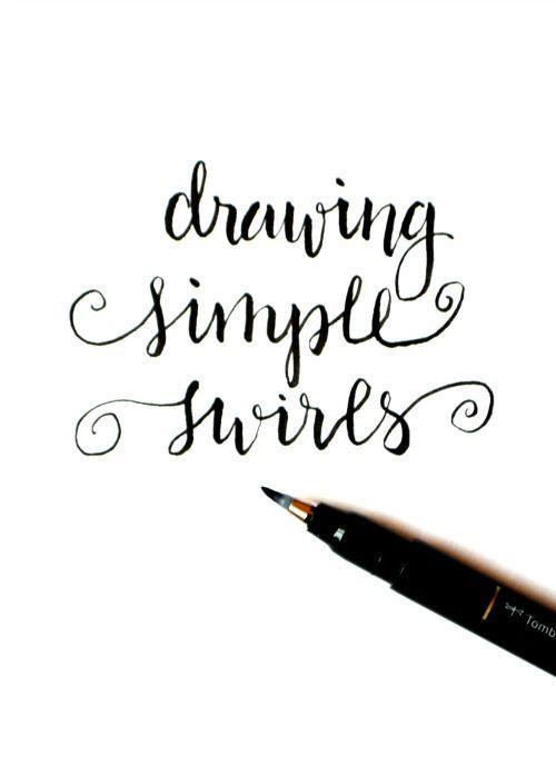 Basic Hand Lettering Simple Swirls