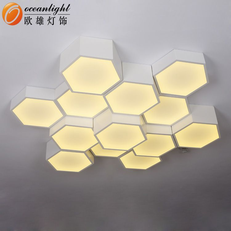 Contemporary Hexagon Alumunum Arcrylic Led Shape Energy Saving Ceiling Lamp Led Source Oxw9928 3 Buy Ceili Ceiling Lamp Ceiling Light Design Ceiling Lights