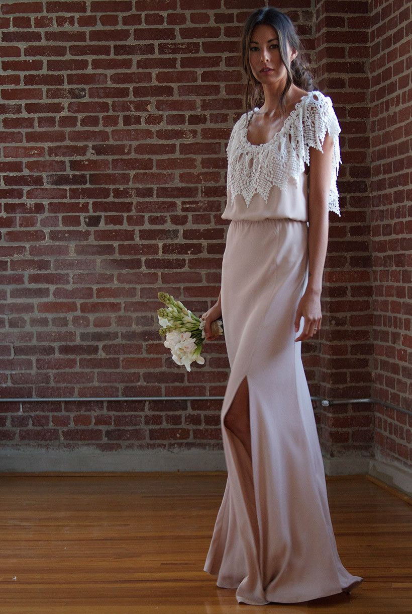 Rupp dress white and blush bryllup pinterest wedding and rupp dress white and blush stone cold foxwedding ombrellifo Choice Image