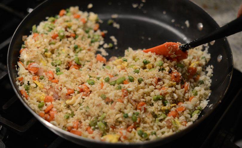 Keep it healthy with cauliflower fried rice!