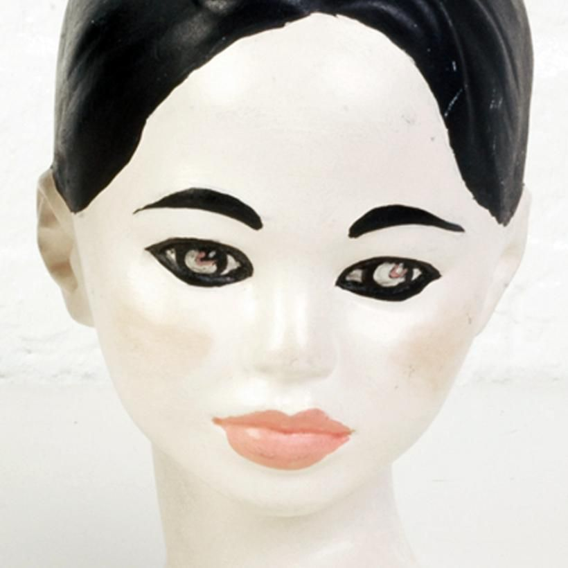 vintage ceramic young girl head bust