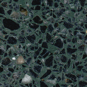 Primera Stone Pebble Pool Finish In Evergreen Grey Pebbles Combined With A Deep Emerald Green Pigment Water Color Black Bottom Medium Dark Wet Edge