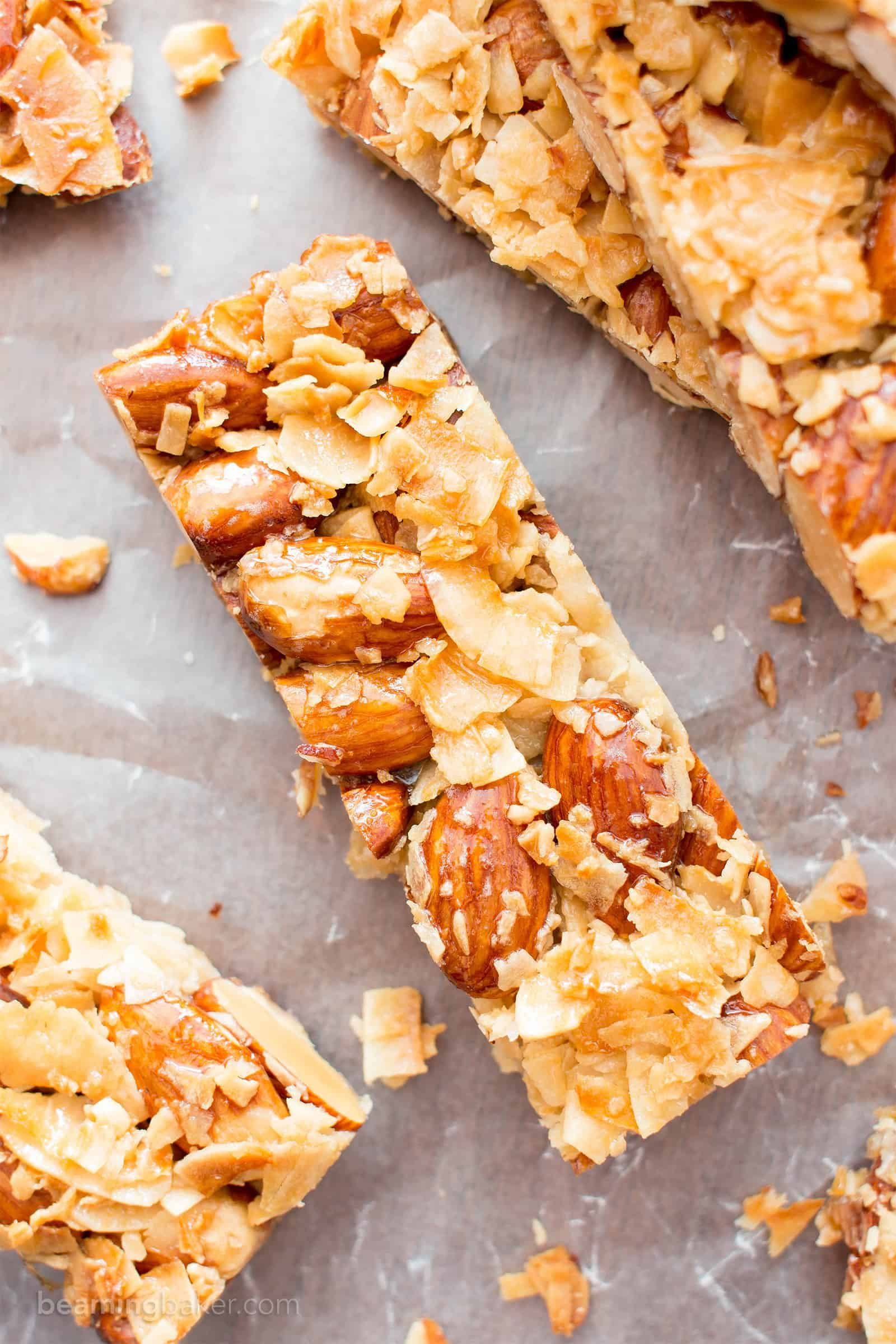 3 Ingredient Homemade Kind Coconut Almond Bar Yummy Healthy