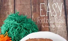 Easy Football Cake
