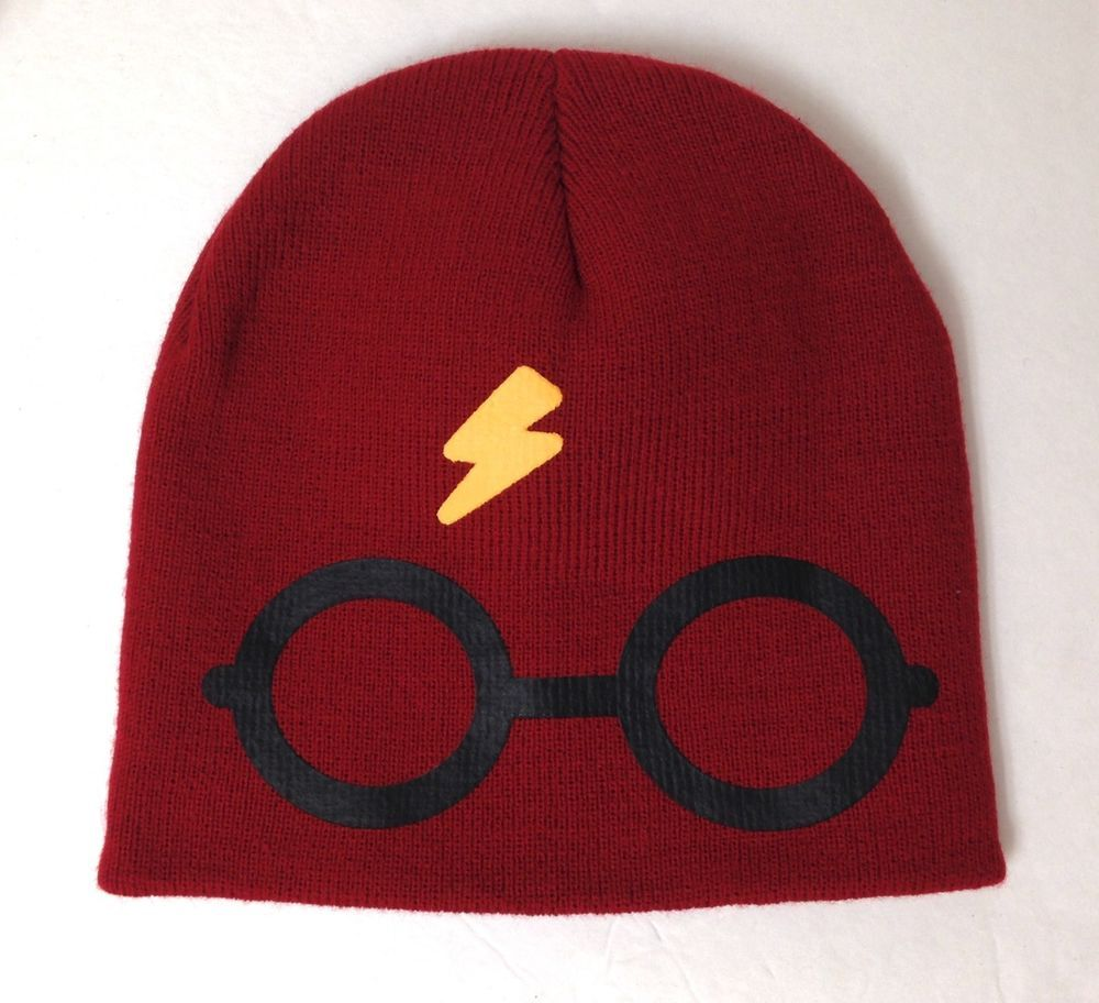 8fe2c049d85 YOUTH boy girl kids HARRY POTTER BEANIE Glasses Lightning Bolt Winter Knit  Hat  HarryPotter  Beanie