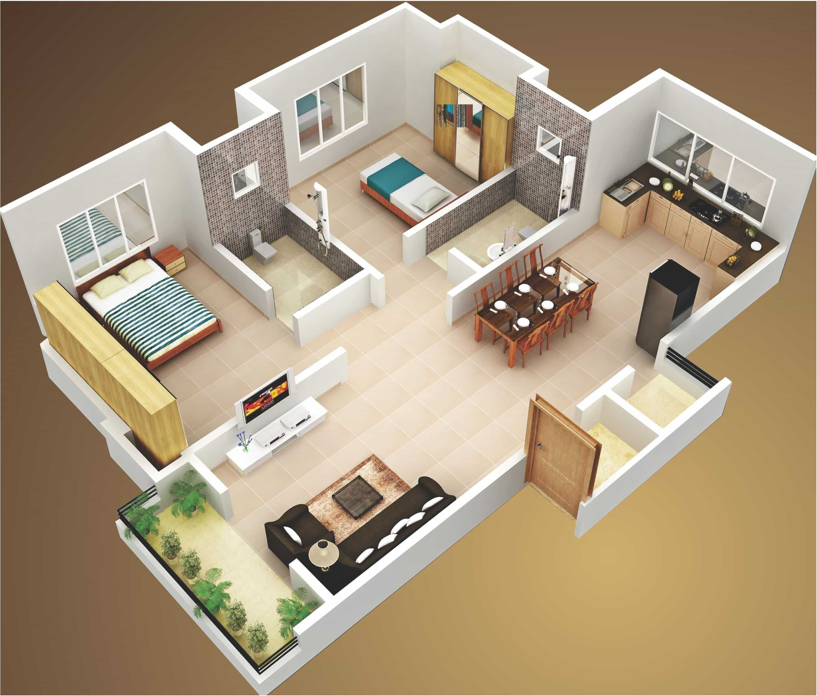 Amazing 3d Floor Plan Design Ideas Engineering Discoveries In 2020 Bungalow House Design Small House Design House Plans