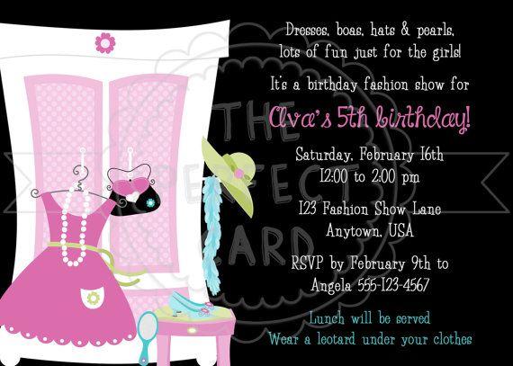 Fashion Show Dress Up Birthday Party Invitation – Dress Up Party Invitations