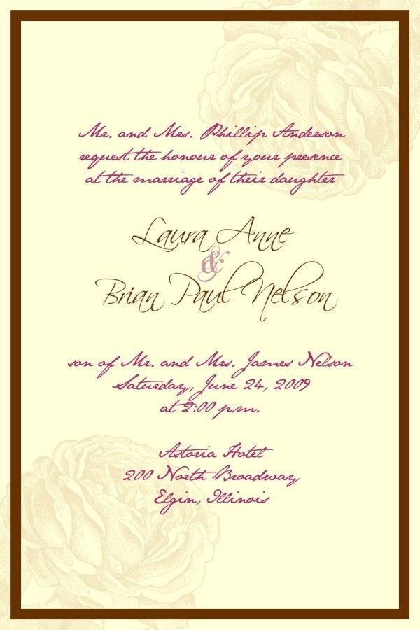 christian wedding invitations wording dCAgPDfv2 | Weddings ...