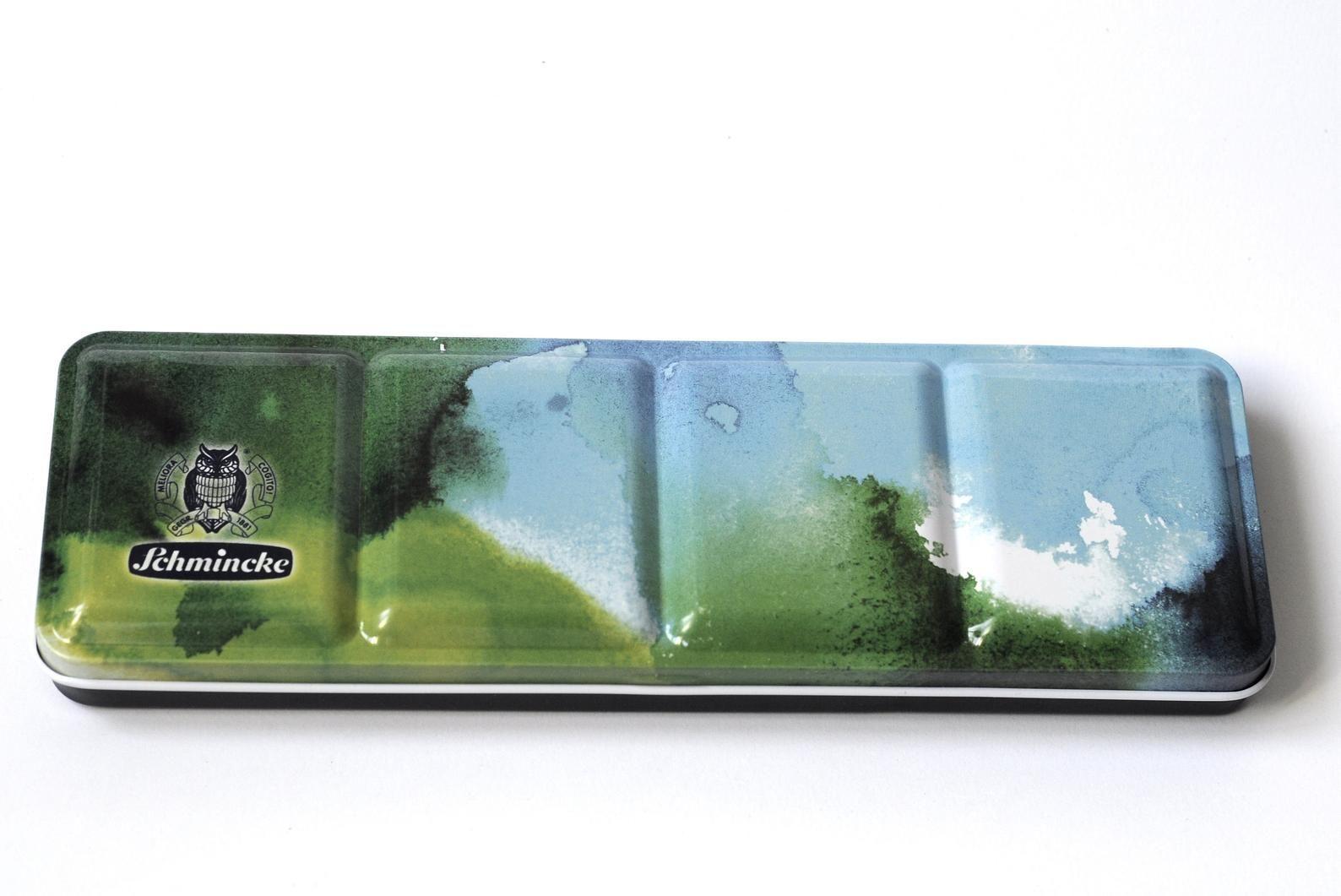 Schmincke Akademie Watercolor Palette Ocean Blue Special Edition