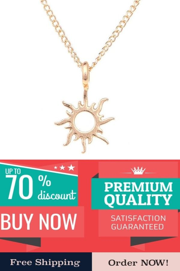 fc34ebe1690a69 Fashion Gold-color Good Vibes Only Sun Necklaces & Pendants For Women  Jewelry #love #necklace #beautiful #pretty #jewelry design