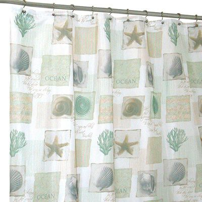 famous home fashions seaside shower curtain | meijer. | bathroom