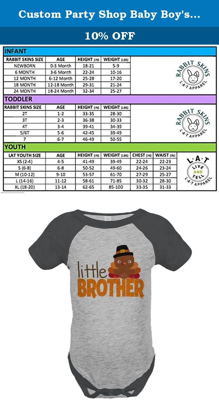 66b5de8be Custom Party Shop Baby Boy s Little Brother Thanksgiving Onepiece 12 ...