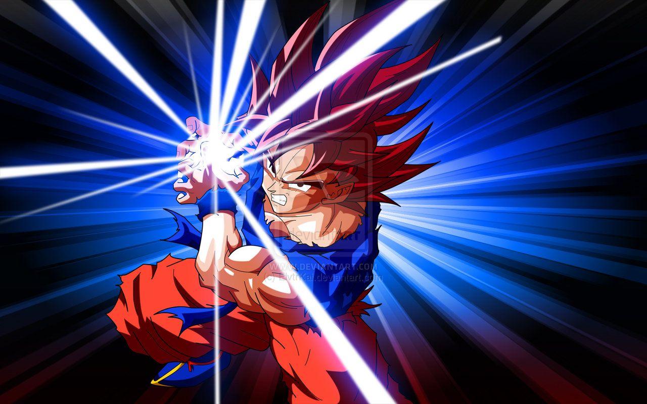 Goku Kamehameha Wave Dragon Ball Z Pinterest Goku Wallpaper