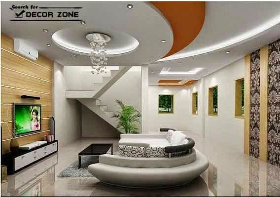 POP False Ceiling Designs For Living Room
