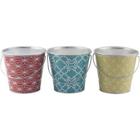 Patio Essentials 3pk Citronella Candle Geo Bucket 5 71 18oz Citronella Candles Citronella