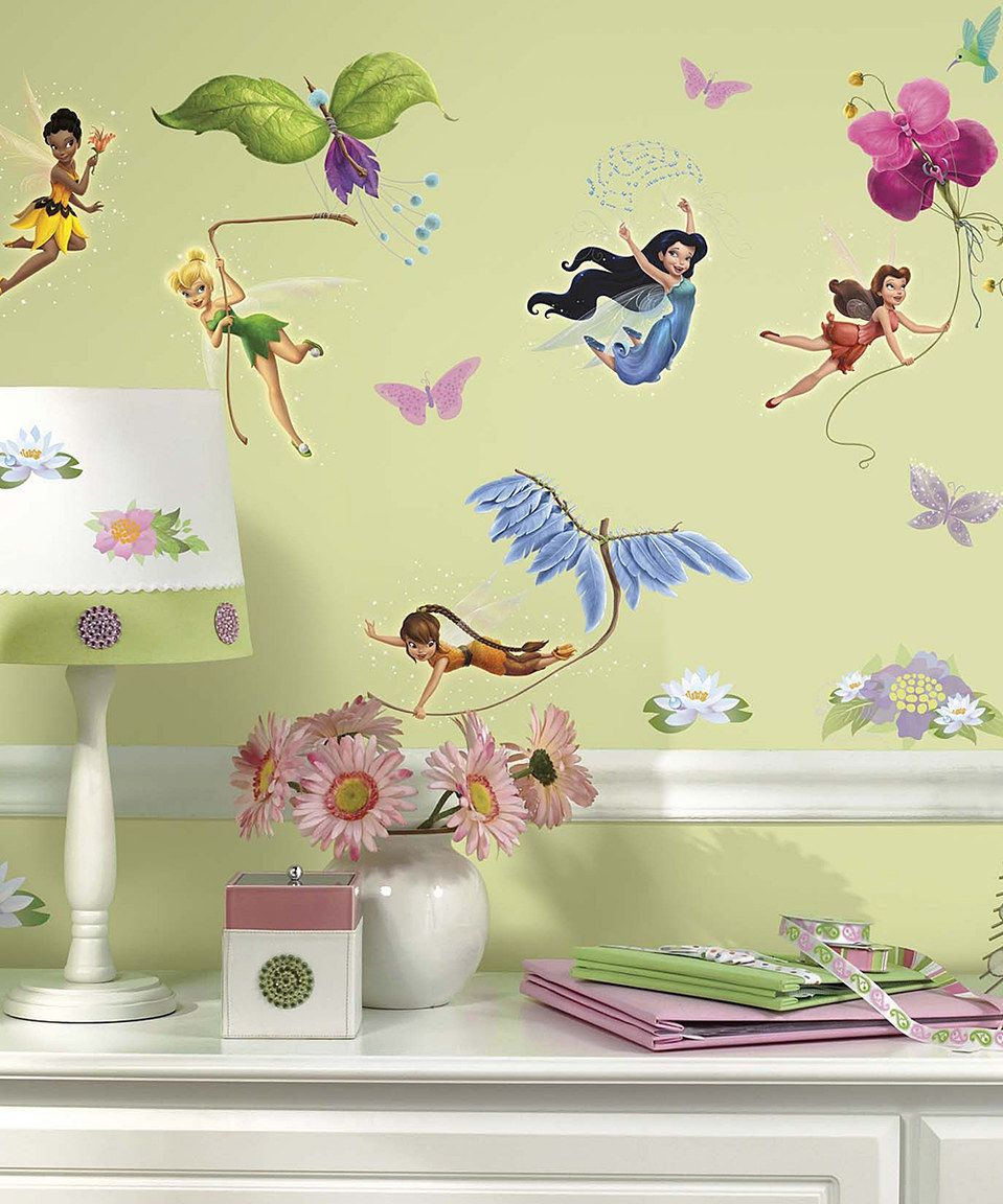 Another great find on #zulily! Disney Fairies Peel & Stick Decal Set ...
