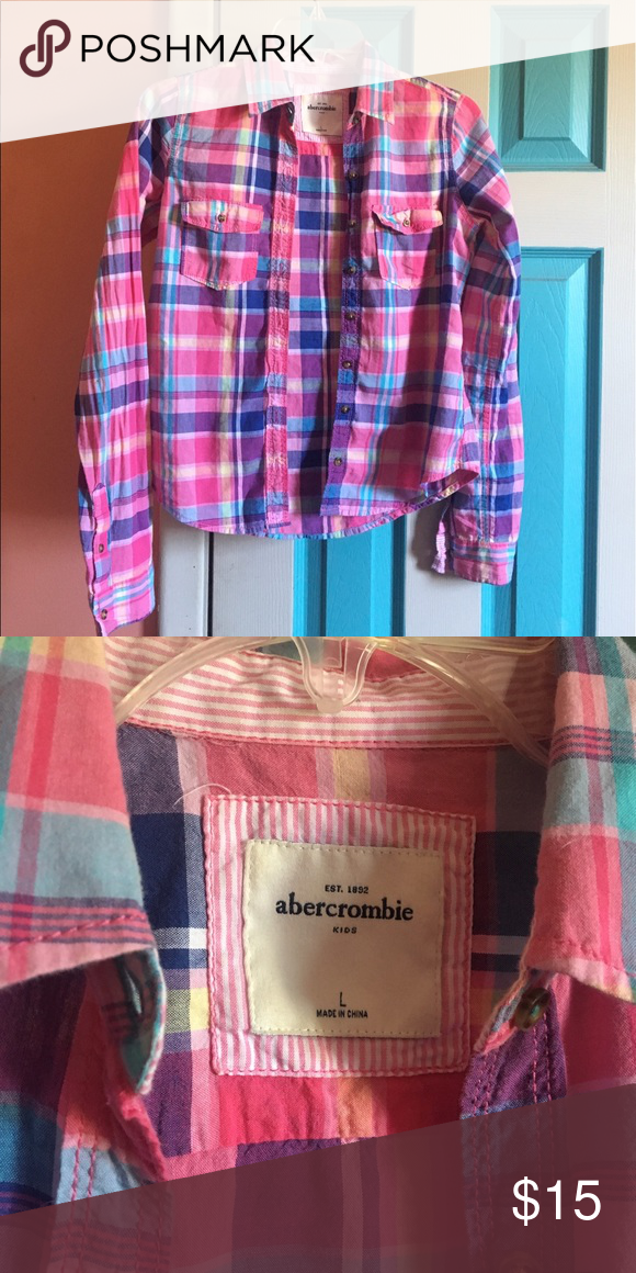 Abercrombie Kids Flannel Size kids large, great condition. Would fit someone who is a regular small. Abercombie Kids Shirts & Tops Button Down Shirts