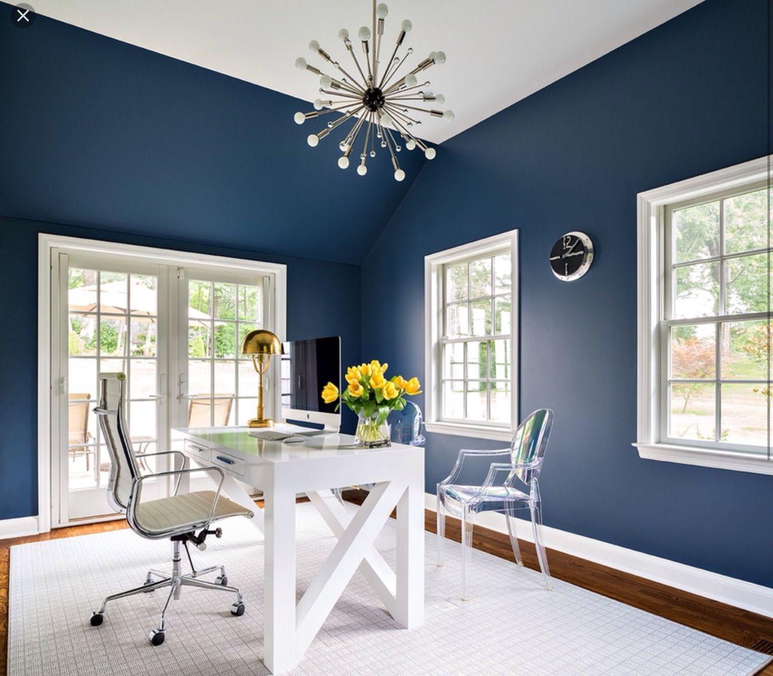Home Office Design Room: Rainstorm. Sherwin Williams