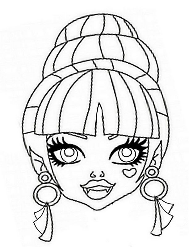 Masque monster high coloriage coloriages monster high coloring pages et halloween arts crafts - Masque monster high ...
