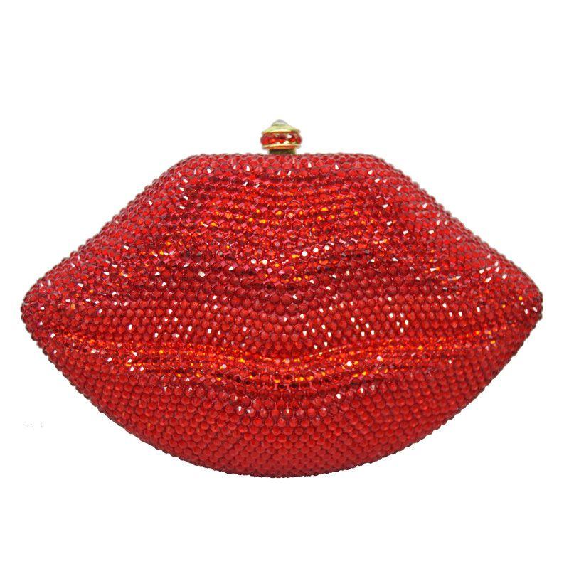 Aliexpress Com Buy Big Red Lip Clutch Luxury Women Designer