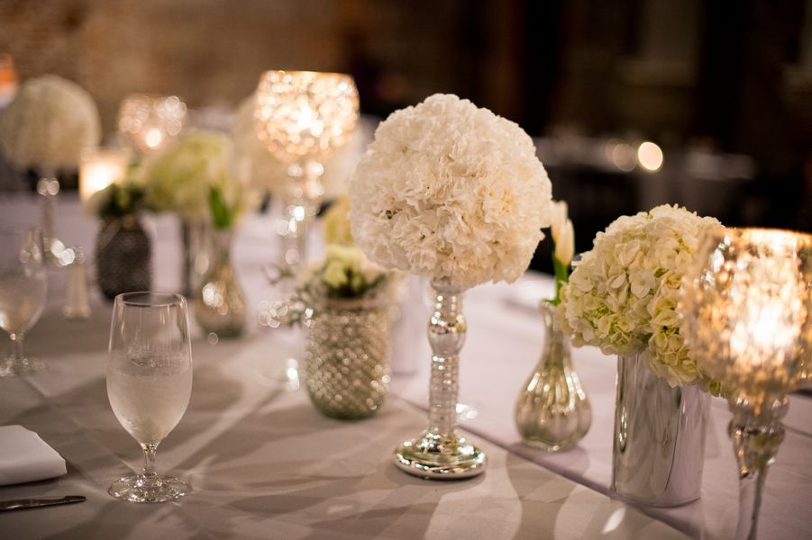White wedding tablescape {Photo by My Life Photography via Project Wedding}