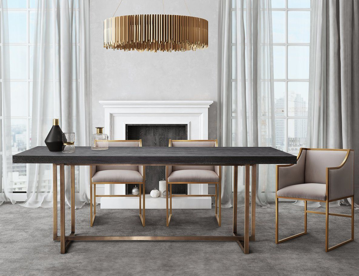 31 Of The Most Brilliant Modern Dining Table Design Ideas Gold