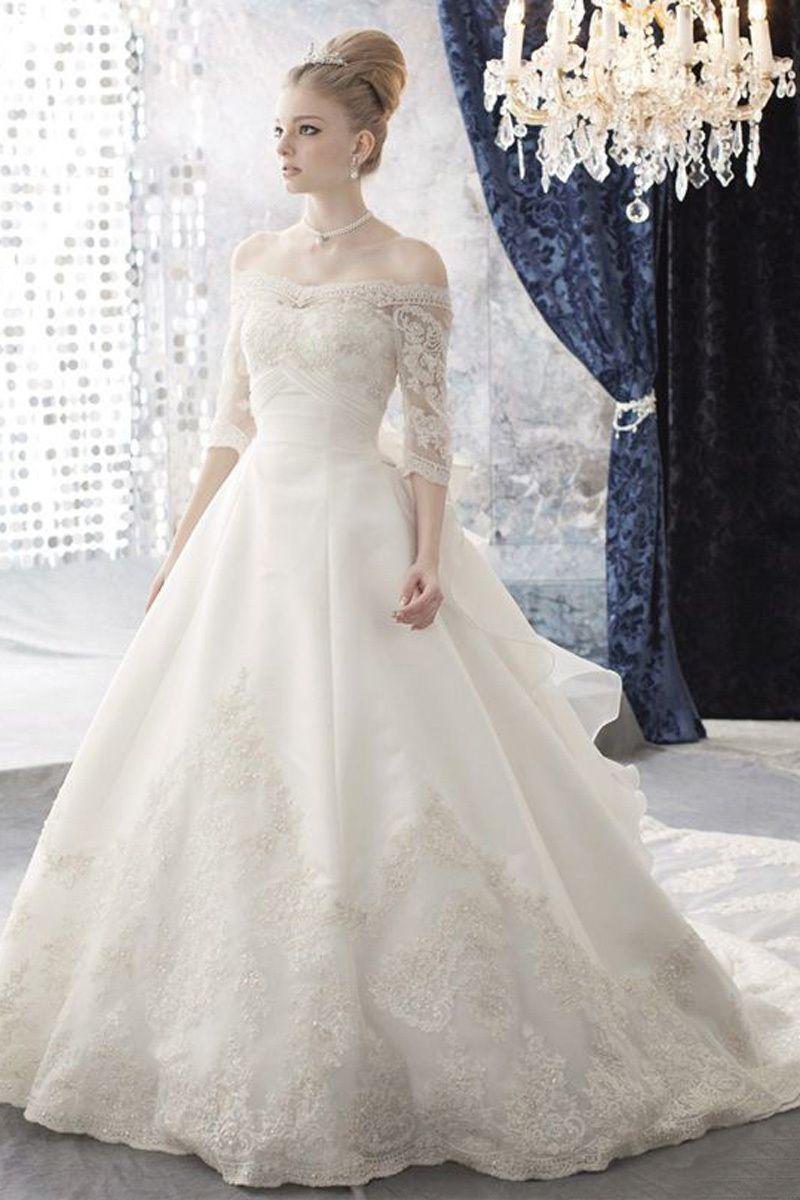 Aliexpresscom Buy New Elegant Ball Gown Wedding Dresses With