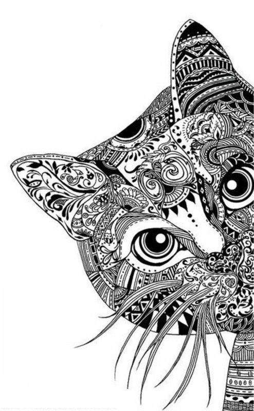Mandala-de-gato.jpg (494×799) | Mandalas | Pinterest