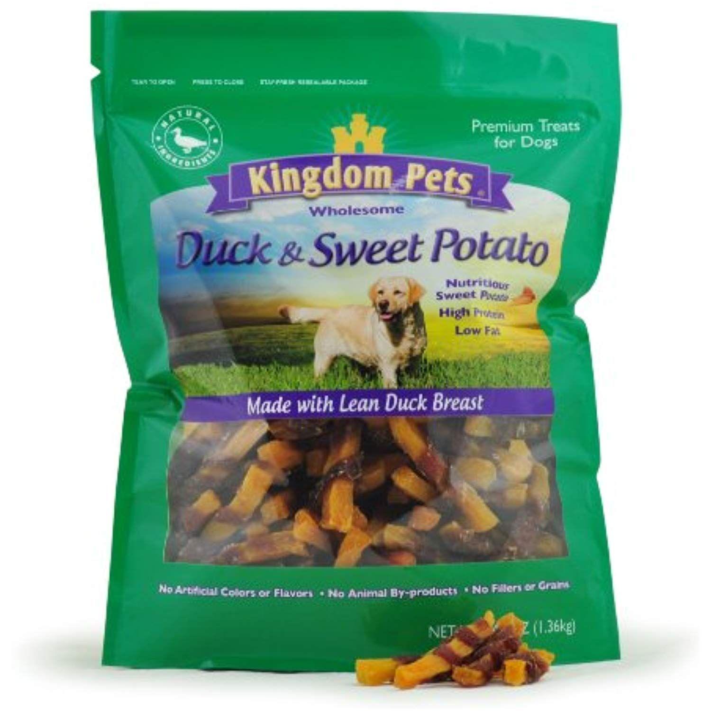Kingdom Pets Premium Dog Treats, Duck and Sweet Potato