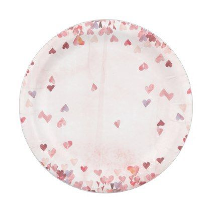 Valentine Hearts Paper Plate - girly gifts girls gift ideas unique special   girly style   Pinterest   Valentine heart  sc 1 st  Pinterest & Valentine Hearts Paper Plate - girly gifts girls gift ideas unique ...
