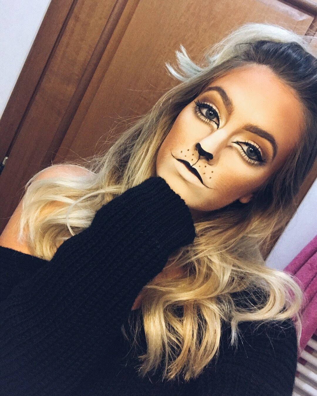 Lion Halloween costume makeup  sc 1 st  Pinterest & Lion Halloween costume makeup | Girl | Pinterest | Lion halloween ...