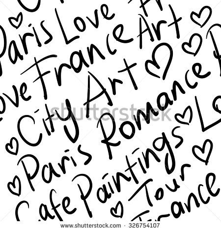 Stock Images similar to ID 69432145 - love in paris seamless pattern
