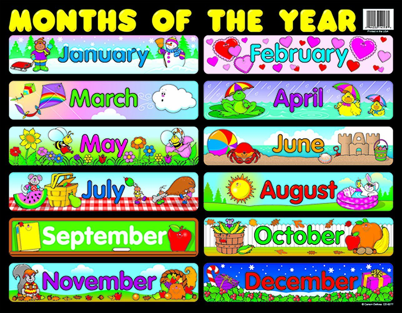Amazon Carson Dellosa Months Of The Year Chart