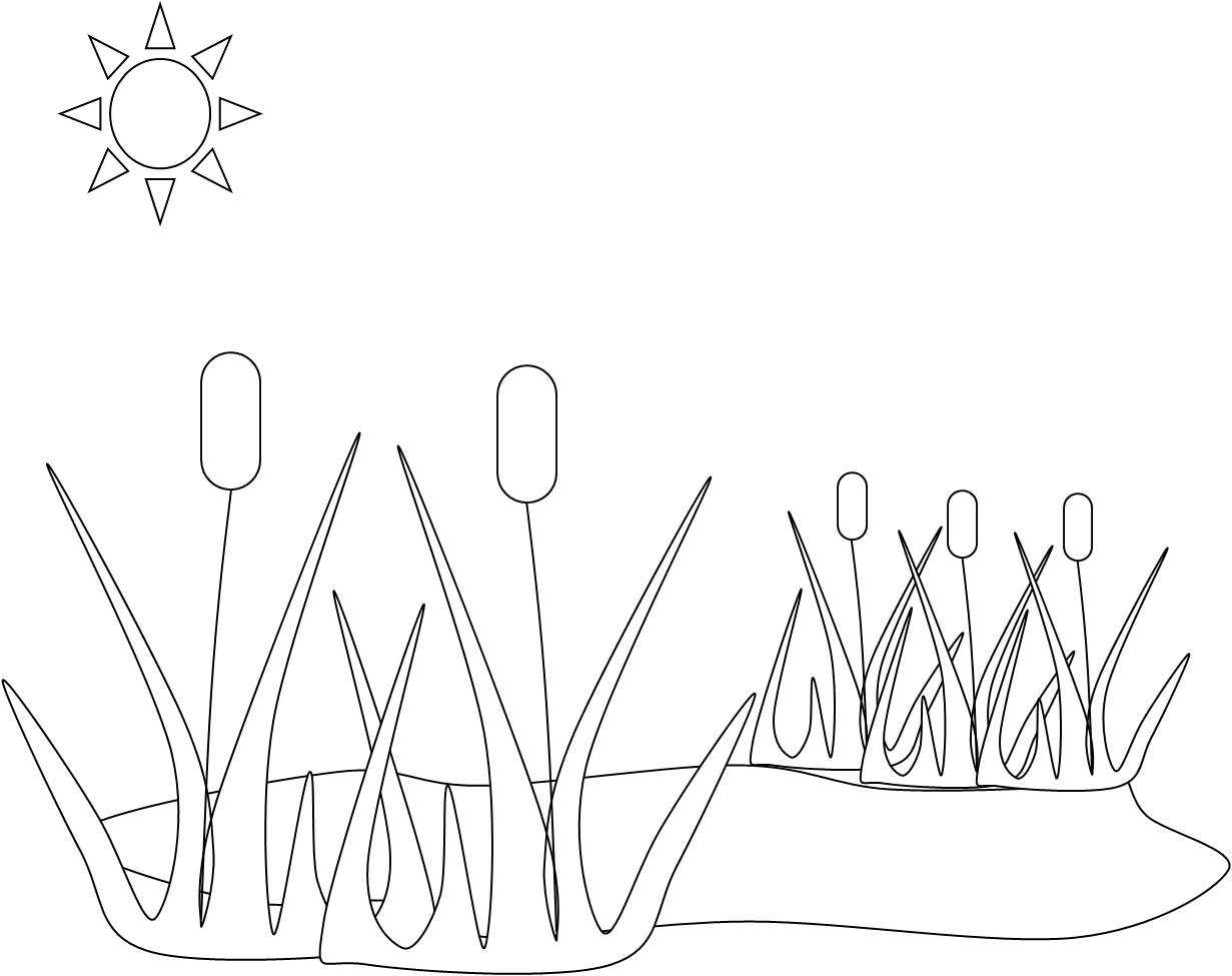 Pond Free Images At Clker Com Vector Clip Art Online Royalty Free Public Domain Clip Art Free Coloring Pages Black And White Landscape [ 975 x 1231 Pixel ]