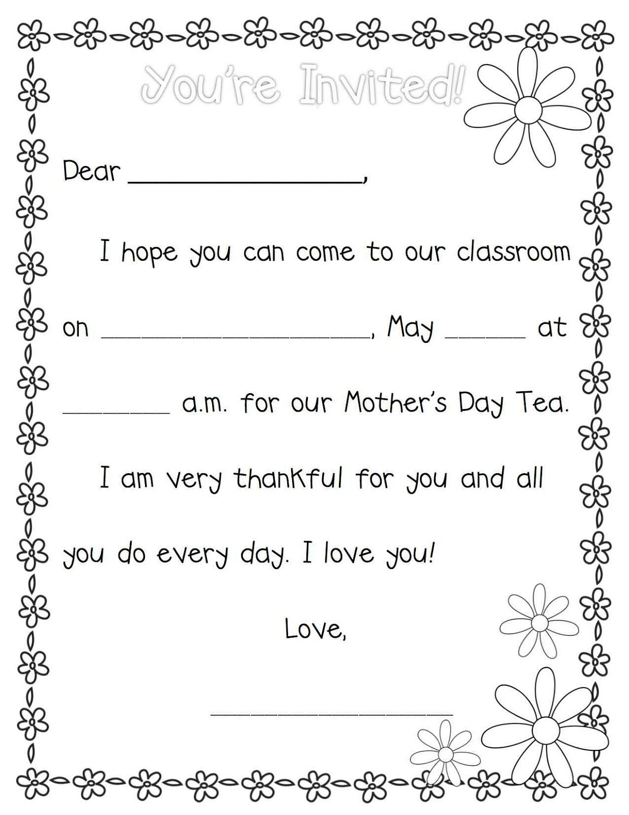 Mother S Day Teapot Template
