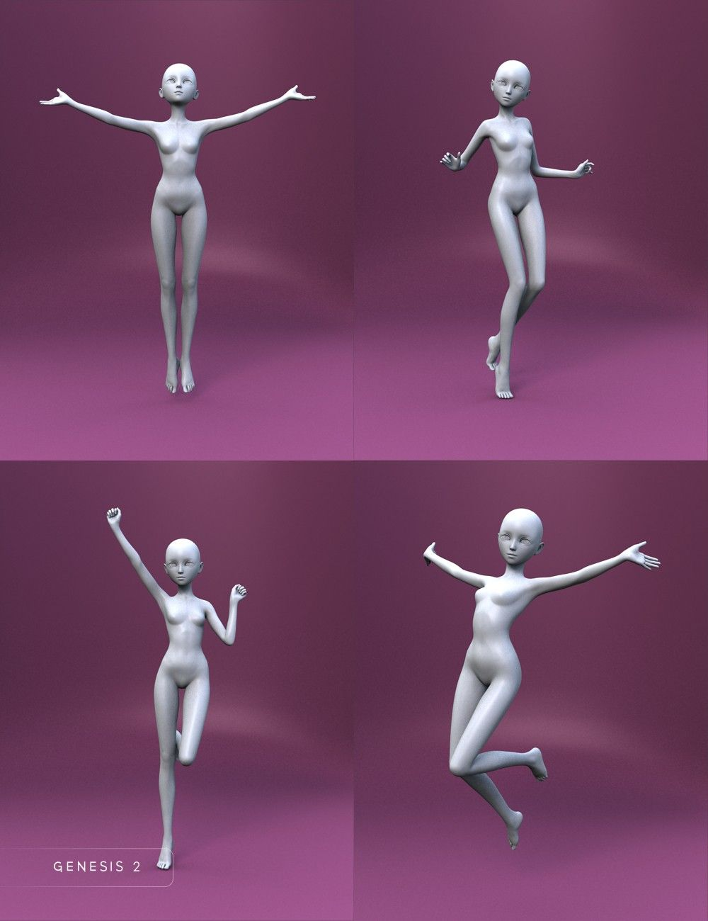 Bell Anime Poses For Keiko 6 And Aiko 6 3d Models And 3d Software By Daz 3d Anime Poses Pose Reference Jumping Poses